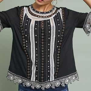 Anthropologie Bonnie Eyelet Top
